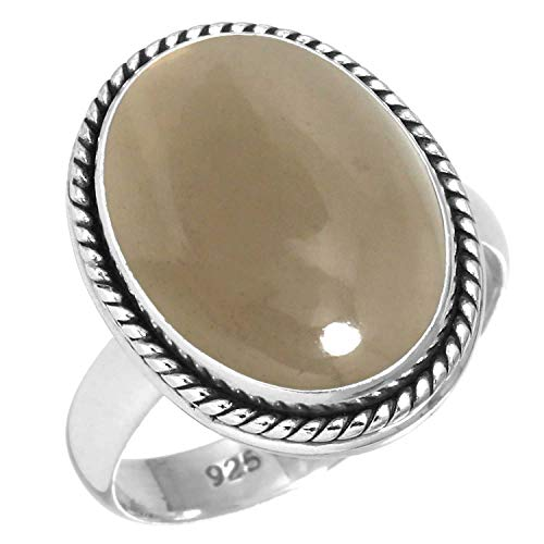 Natural Smoky Topaz Ring 925 Sterling Silver Handmade Jewelry Size 5