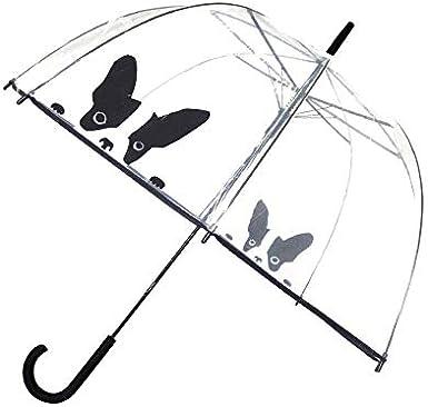 SMATI Paraguas Largo Transparente Forma de Campana automático-Estampado