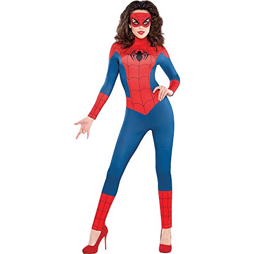 SUIT YOURSELF Sexy Spider-Girl Catsuit Halloween Costume for Women, Small, Includes Mask]()