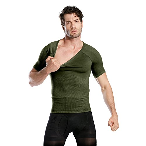 Hoter Mens Slim and Tight Super Soft Compression & Slimming Shaper V-Neck Compression Shirt by HÖTER (Image #6)