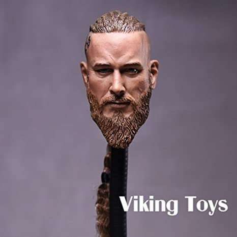 """Vikings 1//6 Braid Ancient Solider Male Carving Head Sculpt F 12/"""" Figure body Toy"""