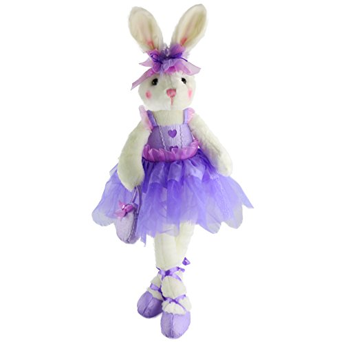 Wewill Easter Gift Well Designed Original Adorable Plush Ballerina Bunny Stuffed Animal Rabbit Doll 23-Inch (Purple) (Ballerina Plush Bunny)