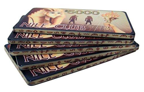 Poker Ceramic Plaques 40g - Bry Belly CPNI-$5000 10 10 $5000 Nile Club 40 Gram Ceramic Poker Plaques