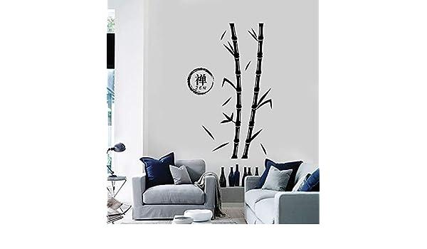 ONETOTOP Etiqueta de la Pared Árbol de Bambú Zen Enso Círculo ...