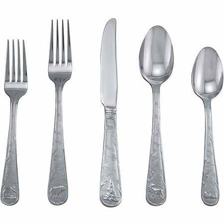 - Cambridge Silversmiths Mountain Sand 20-Piece Flatware Set
