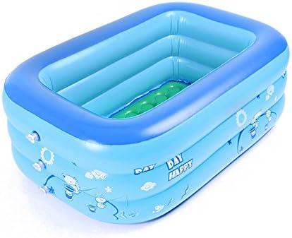 JYCRA - Piscina hinchable plegable, más gruesa y duradera, ideal para niños y bebés, Cloruro de polivinilo., azul, 120x70x35cm
