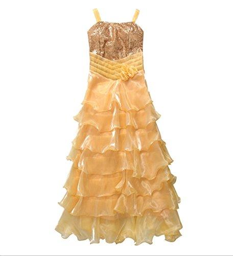 PLAER Frau Sexy Prinzessin Kleid Hochzeitsbrautjunfer Kleid Party Abend Kleid Cocktail Kleid Frische gelbe BfXXA