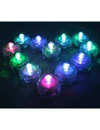 Buy 12 MultiColor LED Submersible Battery Operated Tea Lights-Changes Colors-Wedding, Ice Bucket, Floral Arrangement... occupation