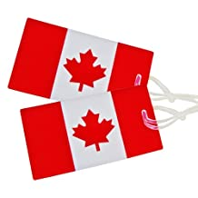 Samsonite Luggage 2-Pack Canadian Flag Luggage Tag, Red/white, International Carry-on