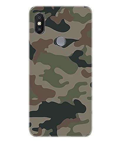 the best attitude b0b81 52343 Gismo Redmi Y2 Back Cover/Xiaomi Redmi Y2 Cover/Redmi Y2 Designer Printed  Soft TPU (Rubber) Back Case/Mi Redmi Y2 Mobile Cover-Camouflage Army Pattern