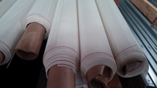 SCREEN MESH: 17x20 PVC Coated Polyester fabric; 84' - 50' Roll (350 sq ft); White
