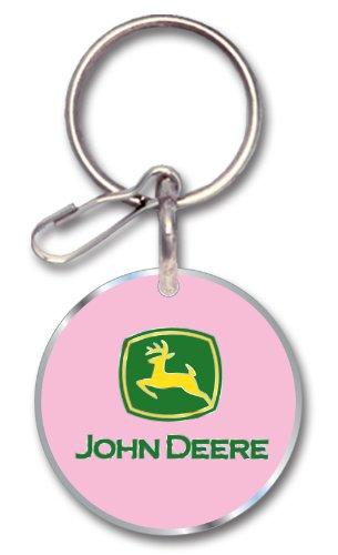 Plasticolor 004235R31 Pink Enamel John Deere Key Chain (Deere Ring John Key)