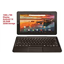 "RCA Maven Pro 11.6"" Android 7.0 with Detachable Keyboard 1366 x 768 ISP Touch Screen 2G RAM 32GB (11.6"", Black)"