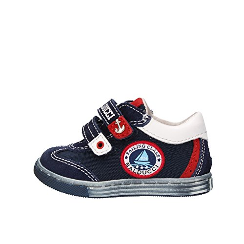 BALDUCCI Boy Sneakers 2 UK / 18 EU Kids Blue Suede Textile Leather AF297