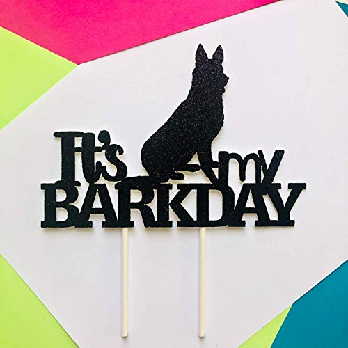 (German Shepherd It's My Barkday Cake Topper, Dog Birthday Cake Topper, Dog Birthday Party, Puppy Party, Puppy Themed Party, My Barkday)