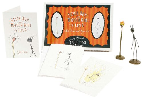 Tim Burtons Stick Boy & Match Girl Note Cards and Figures Boxed Set ()