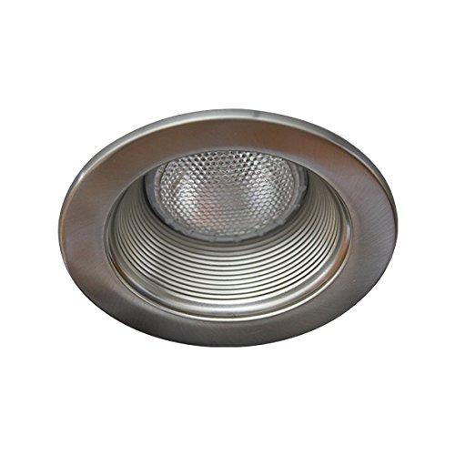 Eco Lighting NY HV4001SN/SN 4-Inch Line Voltage Trim Recessed Light fit Halo/Juno, Step Baffle, Baffle: Satin Nickel, Ring: Satin (Line Voltage Adjustable Baffle)