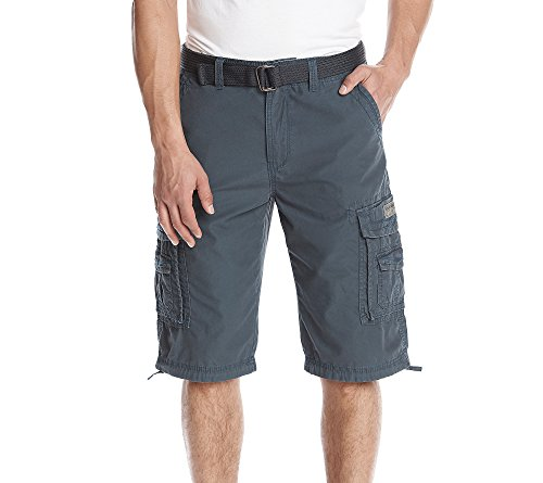 UNIONBAY Men's Cordova Belted Messenger Cargo Short - Reg and Big and Tall Sizes, Grenade, 34 ()