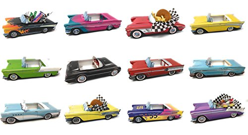 Dunwoody Specialty Sales - Classic Car Sets 12 Classic Car Party Food Boxes - GM Collection]()