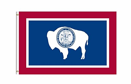 (DFLIVE Wyoming State Flag Banner 3Ft x 5Ft Polyester Printed with Grommets)