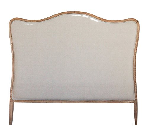 - Creative Co-op Oak & Linen King Size Headboard, Natural