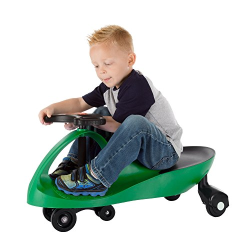 Wiggle Car Ride On Toy – No Batteries, Gears or Pedals – Twist, Swivel, Go – Outdoor Ride Ons for Kids 3 Years and Up by Lil' Rider (Green)