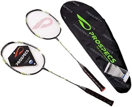 PROSPECSバドミントンラケットセットダイヤモンドヘッドフレーム付きブラックPRIMARY250ゴールド PROSPECS Badminton Racket Set with Diamond Head Frame Black PRIMARY250 Gold