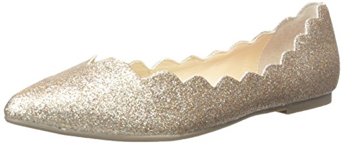 Betsey Johnson Womens Crosbey Balletto Champagne Piatto
