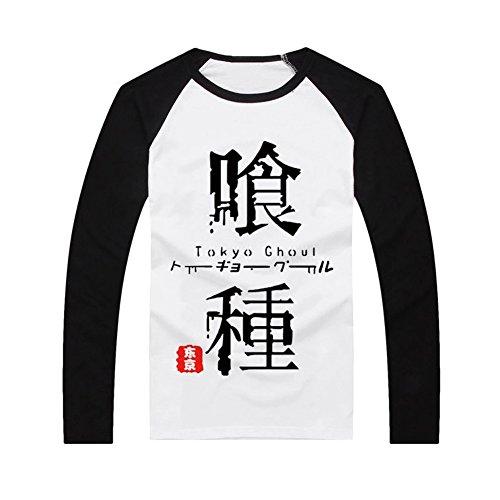 Tokyo Ghoul Word Print Long Sleeve T Shirt Cosplay Sleeve S