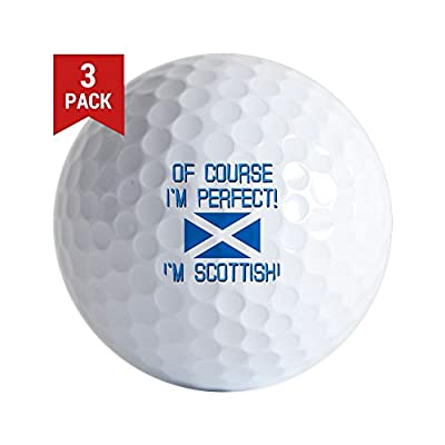 CafePress - I'm Perfect I'm Scottish - Golf Balls (3-Pack), Unique Printed Golf Balls