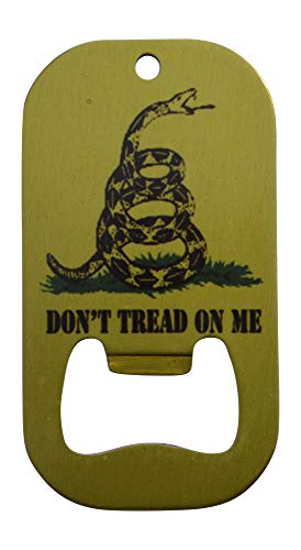 Gadsden Bottle Opener Heavy Duty Stainless Steel Don't Tread On Me Flag Beer Bar
