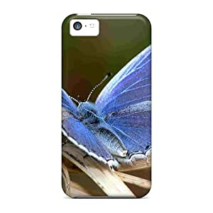 5c Scratch-proof Protection Cases Covers For Iphone/ Hot Pretty Bluish Butterfly Phone Cases