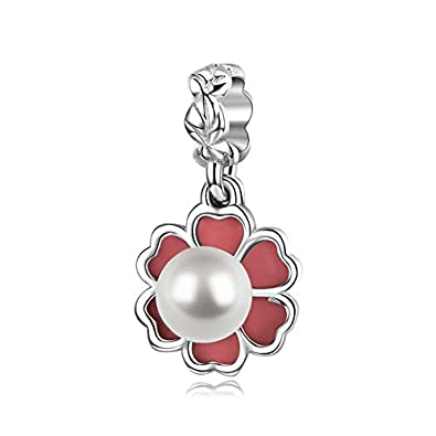 Clover  Sterling Silver Pendant charm