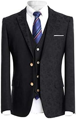 [YFFUSHI] スーツ メンズ スリーピース 二つボタン 3点セット 上下セット スリム 紺色 スタイリッシュスーツ