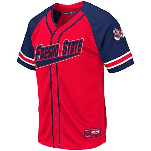 Colosseum Mens Fresno State Bulldogs Wallis Baseball Jersey - M