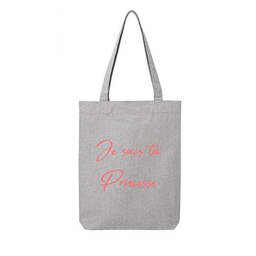 princesse toile recycle ta bag je gris en Tote suis SfTaw8q7W