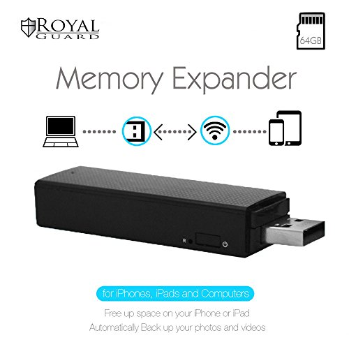 Royal Guard WiFi Memory Expander V1 with 64GB SD Card, Black