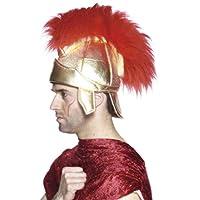 Casco para hombre soldado romano de Smiffys, tela, dorado, talla única, 26939