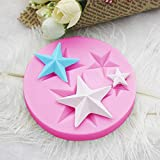 WYD 2pcs Five-Pointed Star Silicone Mold Cake