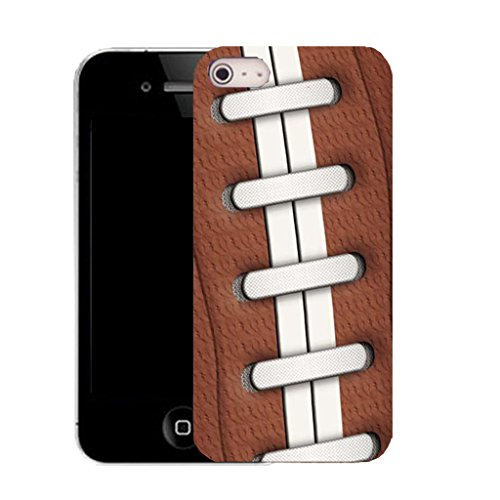Mobile Case Mate IPhone 4 clip on Silicone Coque couverture case cover Pare-chocs + STYLET - brown rugby pattern (SILICON)