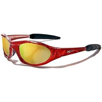 X-Loop Lunettes de Soleil - Sport - Cyclisme - Ski - Conduite - Moto - Plage / Mod. 2044 Rouge Translucide / Taille Unique Adulte / Protection 100% UV400 GzNNNy37