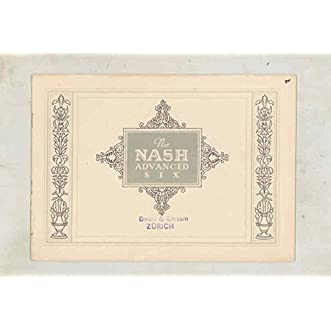 1924 Nash Advanced Six Brochure Export German