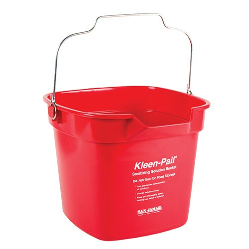 ean-Pail, Sanitizing Solution Safety Pail 10 Quart, With Pour Spout (10 Qt Plastic Pail)