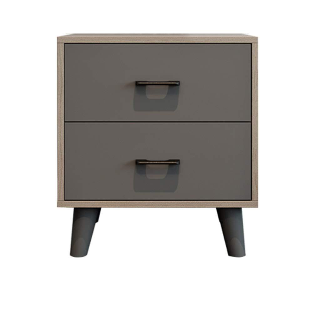ZHAOYONGLI Tische Beistelltische Nachttisch Nachttisch Schrank Schlafzimmermöbel Kommode Ablage Regal (Color : Gray, Size : 55 * 40 * 60cm)