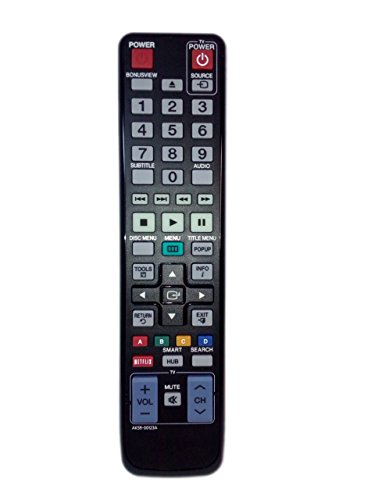 AK59-00123A Remote Control Replaced for Samsung BD-D5500/ZC BDD7500B BDD5800 BD-D700 BD-D6500/ZV BDD5700ZC BD Blu-Ray DVD Player