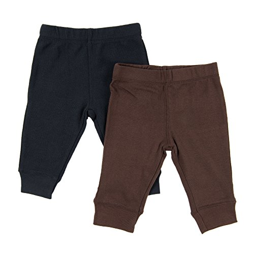 Leveret Baby Crawling Pants & Legging Set Kids Baby Pants (Navy & Brown 6 Months)