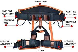 MYXMY Arnés de escalada, Cinturones de seguridad para montañismo ...