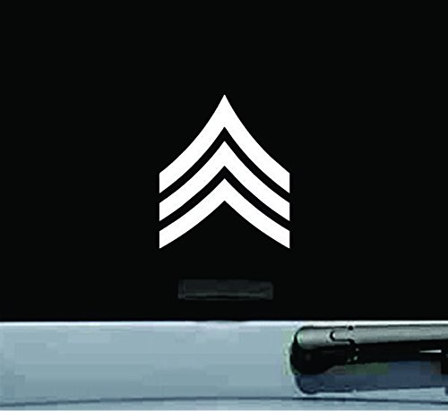 JS Artworks United States Army Sergeant SGT E-5 Rank Insignia Vinyl Decal Sticker