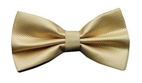 Tied Ties Dress Pre Check Formal Men's Tie Plaid MENDENG Gold Bow Tuxedo BWqXC4Zn