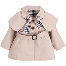 MNLYBABY Kids Baby Girl Spring Autumn Trench Coat Fashion Wind Proof Jacket